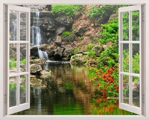 Wandtattoos: See und Wasserfall