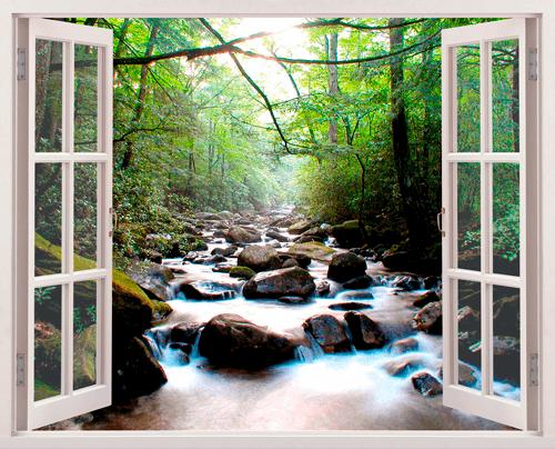 Wandtattoos: Steine im Fluss
