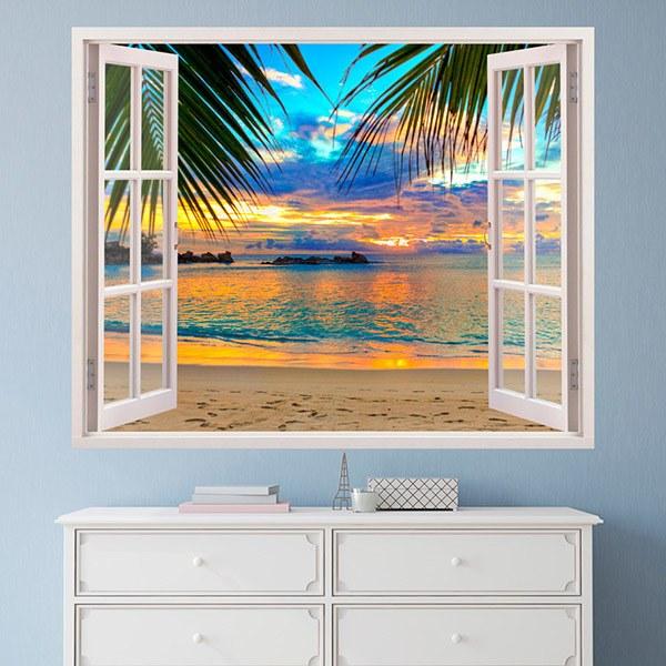 Fototapete dachfenster  Wandtattoo 3d Effekt Fenster | WebWandtattoo.com