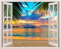 Wandtattoos: Sonnenuntergang am Strand 5