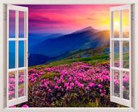 Wandtattoos: Blumen und Berge 5