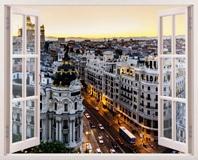 Wandtattoos: Gran Vía in Madrid 3