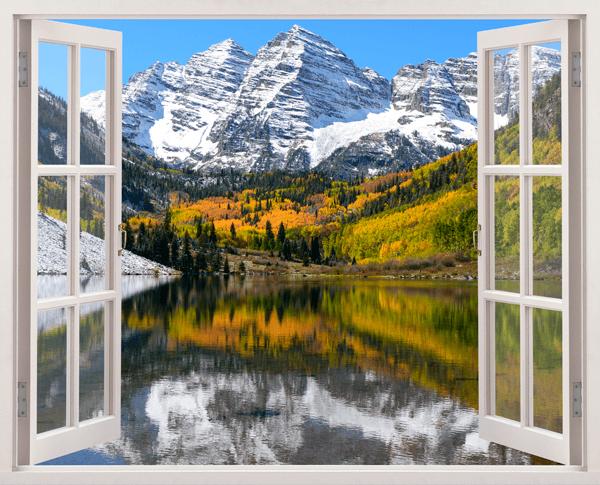 Wandtattoos: Berg, Tal und See