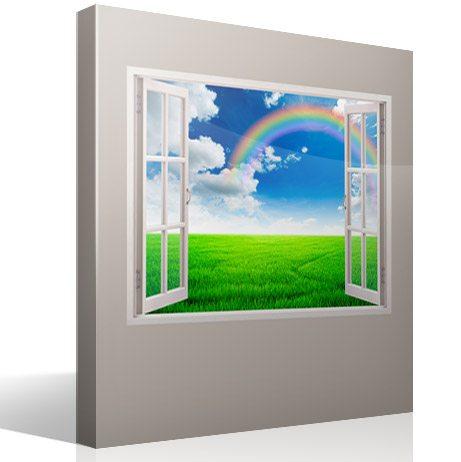 Wandtattoos: Regenbogen auf dem Gebiet