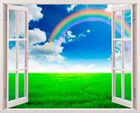 Wandtattoos: Regenbogen auf dem Gebiet 3