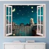 Wandtattoos: Eine Katze auf dem Dach 3