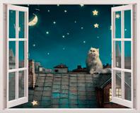 Wandtattoos: Eine Katze auf dem Dach 5
