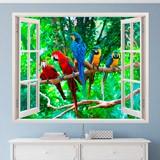 Wandtattoos: Papageien 3