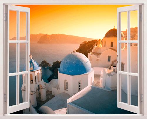 Wandtattoos: Sonnenuntergang in Santorini