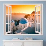 Wandtattoos: Sonnenuntergang in Santorini 1