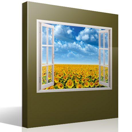 Wandtattoos: Sonnenblumenfeld