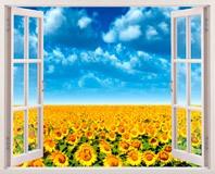 Wandtattoos: Sonnenblumenfeld 5
