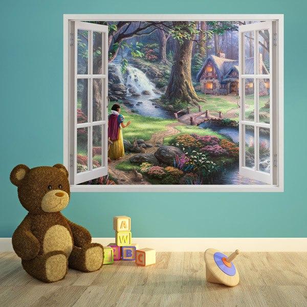 Wandtattoo 3d Effekt Fenster für Kinder | WebWandtattoo.com