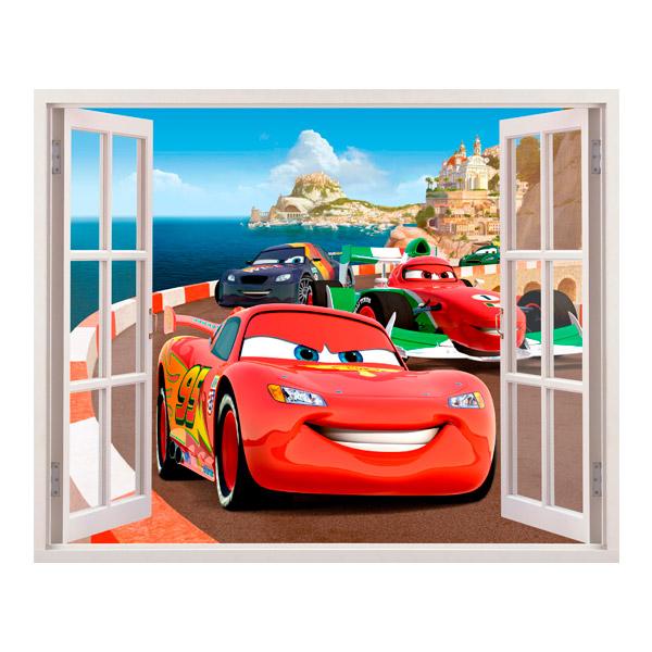 Wandtattoo Kinder Fenster Von Cars In Italien Webwandtattoo Com