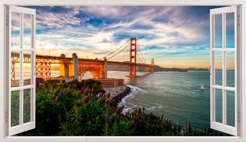 Wandtattoos: Panorama Golden Gate