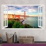 Wandtattoos: Panorama Golden Gate 3