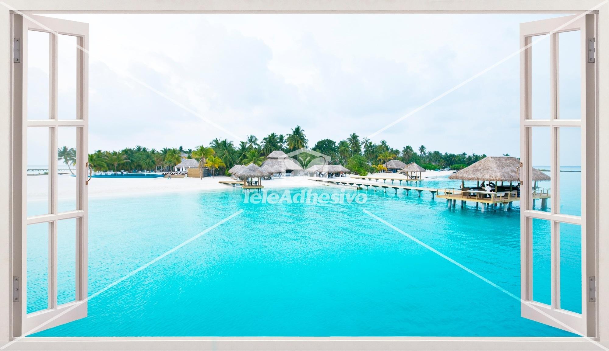 Wandtattoos: Panorama Caribbean Island