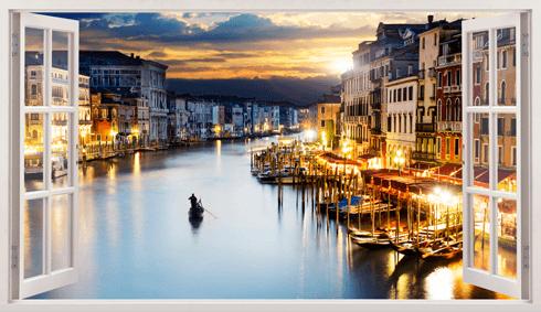 Wandtattoos: Übersicht über Venedig 1