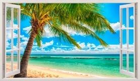 Wandtattoos: Panorama Palmen am Strand 4 5