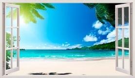 Wandtattoos: Panorama Palmen am Strand 5 5