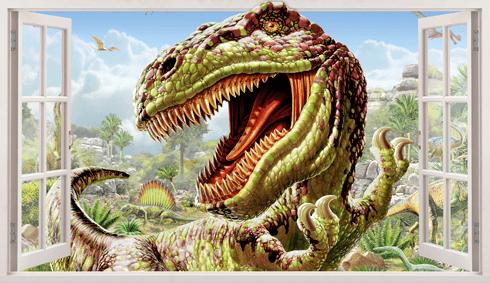 Wandtattoos: Panorama Dinosaur