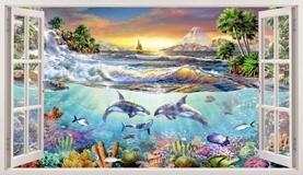 Wandtattoos: Panorama Meeresboden 5