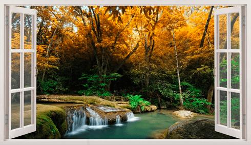 Wandtattoos: Panorama Frühling im Wald