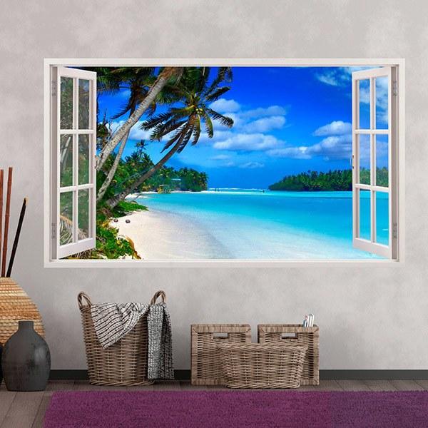 Fototapete fenster aussicht  Wandtattoo 3d Effekt Fenster | WebWandtattoo.com