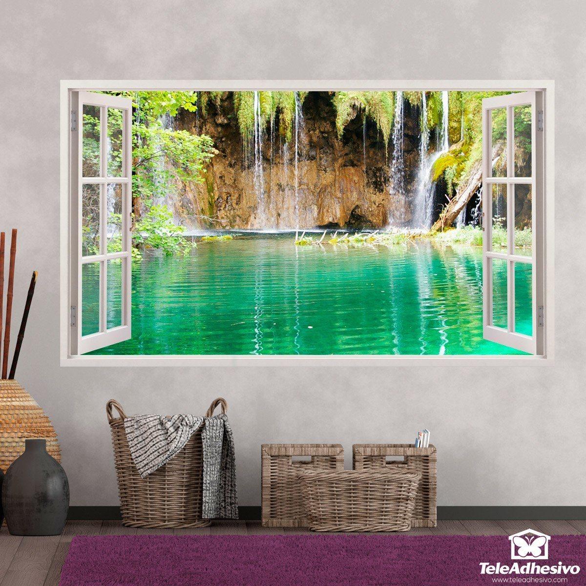 Wandtattoos: Panorama See und Wasserfall