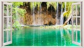 Wandtattoos: Panorama See und Wasserfall 5