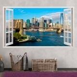 Wandtattoos: Übersicht über Skyline New York 1