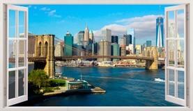 Wandtattoos: Übersicht über Skyline New York 3