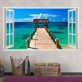 Wandtattoos: Panorama Tor zum Meer in Bahamas 3