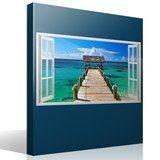 Wandtattoos: Panorama Tor zum Meer in Bahamas 4