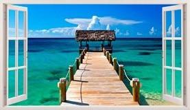 Wandtattoos: Panorama Tor zum Meer in Bahamas 5