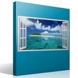 Wandtattoos: Panorama Meer und Insel in der Karibik 4