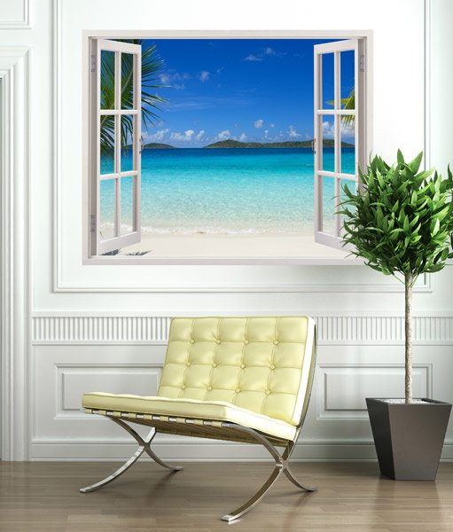 Kunststoff 3d fenster ipanema for Vinilos decorativos pared 3d