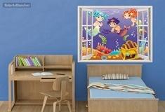 Kinderzimmer Wandtattoo: Gold-Sirenen 1