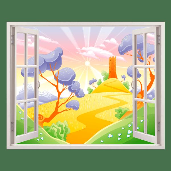 Kinderzimmer Wandtattoo: Weizenfelder