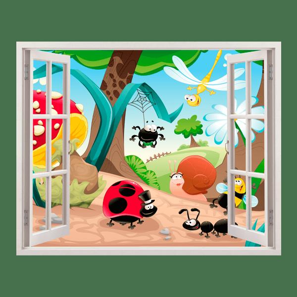 Kinderzimmer Wandtattoo: Begegnung im Walde