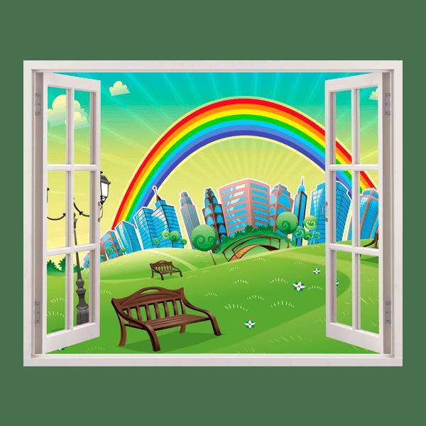 Kinderzimmer Wandtattoo: Regenbogen