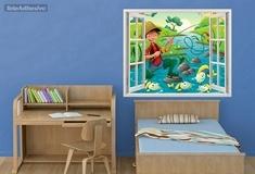 Kinderzimmer Wandtattoo: Fischer 3