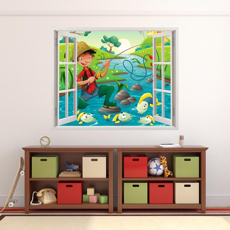 Kinderzimmer Wandtattoo: Fischer