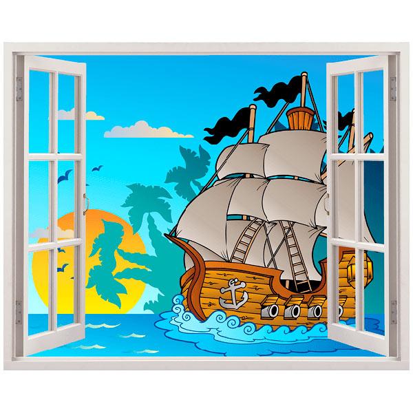 Wandtattoo kinder fenster piraten for Piraten wandtattoo kinderzimmer