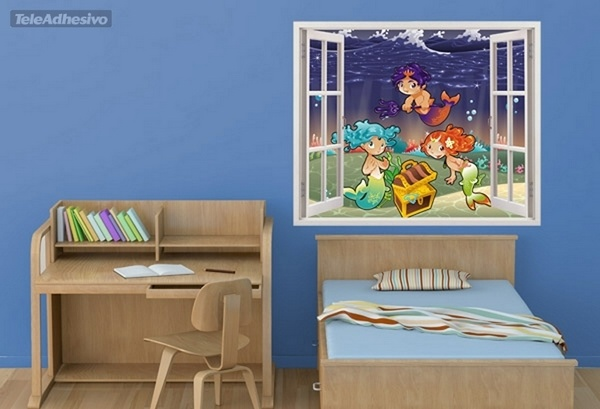 Kinderzimmer Wandtattoo: Sirens of the Sea