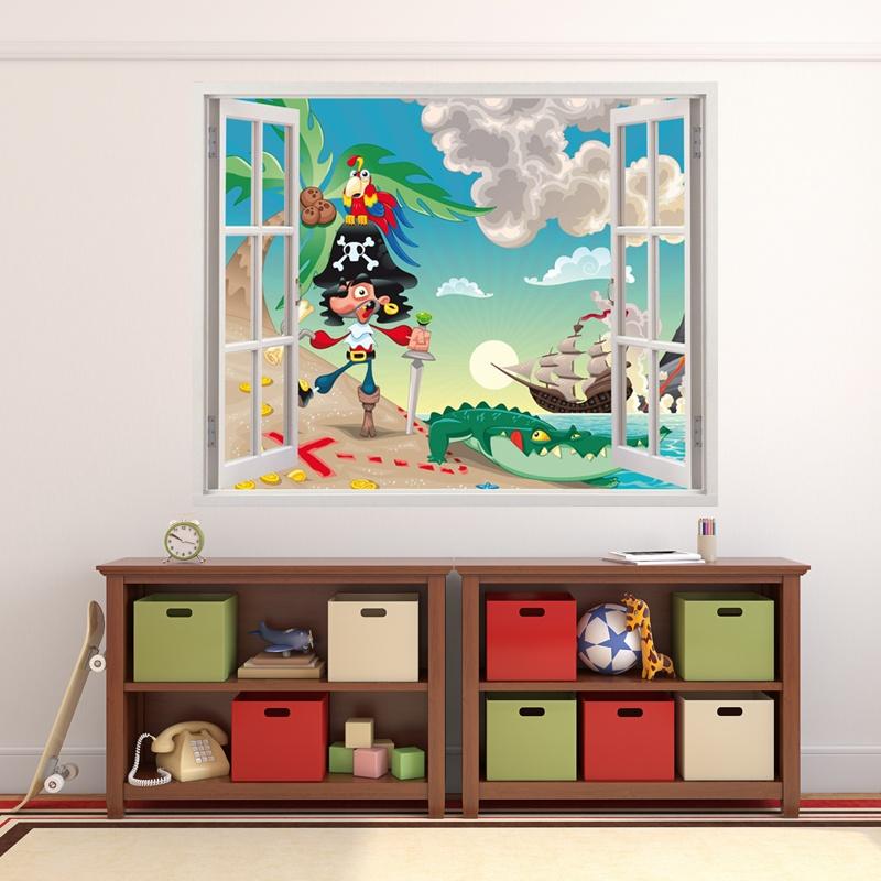 Kinderzimmer Wandtattoo: Der Schatz des Kapitäns