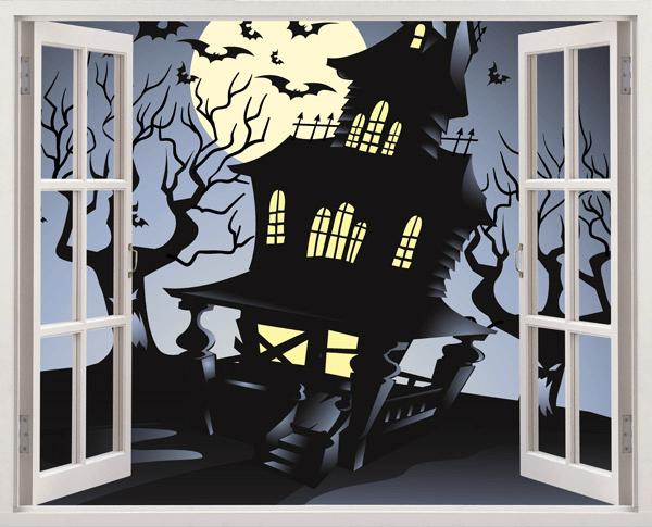 Kinderzimmer Wandtattoo: The Haunted House