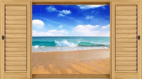 Wandtattoos: Welle am Strand