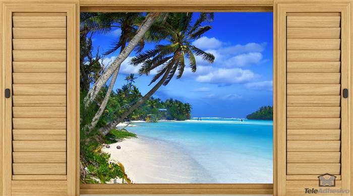 Wandtattoos: Palmen am Strand