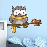 Kinderzimmer Wandtattoo: Eule mit einem Schal auf dem Ast 3